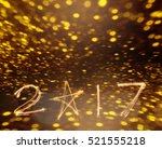 happy new years 2017 fireworks... | Shutterstock . vector #521555218