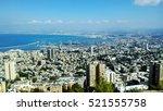 Panorama View Of Haifa City An...