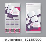 vector flyer and leaflet design.... | Shutterstock .eps vector #521557000
