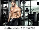 young attractive muscular... | Shutterstock . vector #521557288
