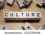 culture word written in wooden... | Shutterstock . vector #521559436