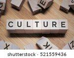 culture word written in wooden... | Shutterstock . vector #521559436