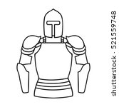 Plate Armor Icon In Outline...