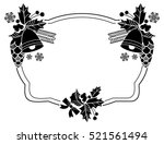 holiday frame with christmas... | Shutterstock .eps vector #521561494