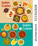 indian national cuisine with... | Shutterstock .eps vector #521562838