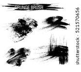 vector set of grunge brush... | Shutterstock .eps vector #521570656
