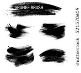vector set of grunge brush... | Shutterstock .eps vector #521570659