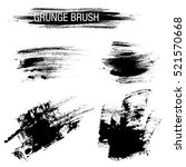 vector set of grunge brush... | Shutterstock .eps vector #521570668