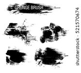 vector set of grunge brush... | Shutterstock .eps vector #521570674