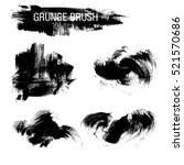 vector set of grunge brush... | Shutterstock .eps vector #521570686