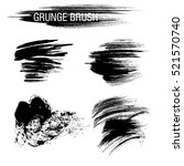 vector set of grunge brush... | Shutterstock .eps vector #521570740