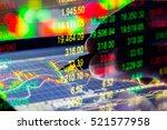 financial stock analysis chart...   Shutterstock . vector #521577958