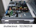 network servers in data room... | Shutterstock . vector #521582518