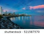Skyline Of Panama City At Blue...