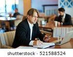 trader at work | Shutterstock . vector #521588524