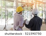 two business man construction... | Shutterstock . vector #521590750