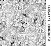 tracery seamless calming...   Shutterstock . vector #521590969