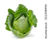 cut cabbage on white background | Shutterstock . vector #521598994