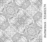 tracery seamless calming... | Shutterstock . vector #521602174