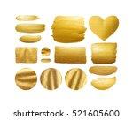 set of gold shining brush... | Shutterstock . vector #521605600