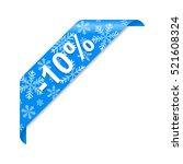 winter discount 10  | Shutterstock .eps vector #521608324