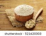 natural organic oat flour in a... | Shutterstock . vector #521620303