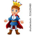 vector illustration of cute boy ... | Shutterstock .eps vector #521620480