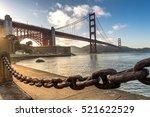 golden gate bridge  landmark of ... | Shutterstock . vector #521622529