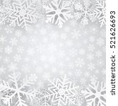 christmas background in gray... | Shutterstock . vector #521626693