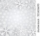 christmas background in gray...   Shutterstock . vector #521626693