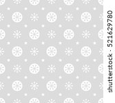 snowflakes background. | Shutterstock .eps vector #521629780