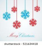 vector set of snowflakes... | Shutterstock .eps vector #521634418