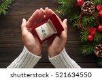 christmas background.... | Shutterstock . vector #521634550