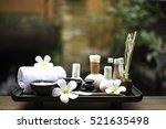 spa feet and hand thai massage... | Shutterstock . vector #521635498