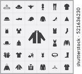 clothes icons universal set for ... | Shutterstock .eps vector #521636230