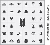 vest icon. clothes icons... | Shutterstock .eps vector #521636248