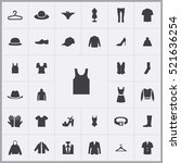 clothes icons universal set for ... | Shutterstock .eps vector #521636254