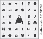 clothes icons universal set for ... | Shutterstock .eps vector #521636260