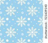Seamless Snowflakes Pattern...