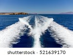 fast moving boat wake in... | Shutterstock . vector #521639170