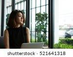 charming beautiful woman... | Shutterstock . vector #521641318