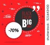 abstract vector black friday... | Shutterstock .eps vector #521643430
