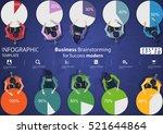 business brainstorming for... | Shutterstock .eps vector #521644864