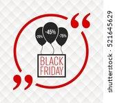 abstract vector black friday... | Shutterstock .eps vector #521645629