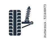 car suspension  wheel front ... | Shutterstock .eps vector #521648473