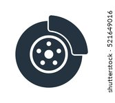 disc brake isolated icon on... | Shutterstock .eps vector #521649016
