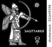 zodiac sign sagittarius. full... | Shutterstock .eps vector #521649298