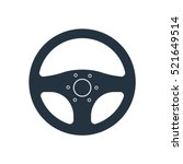 car steering isolated icon on... | Shutterstock .eps vector #521649514