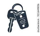 car lock key isolated icon on... | Shutterstock .eps vector #521649856
