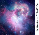 Colorful Space Nebula With...